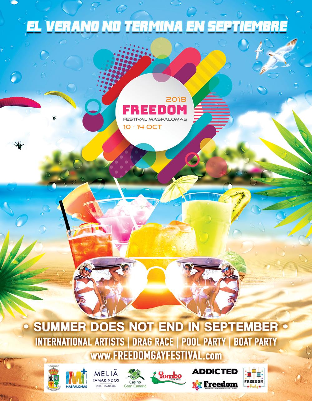 Freedom Festival Maspalomas 2018 ``Official poster``